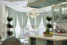 Дизайн интерьера дома в венецианском стиле / Пожелание заказчика: создать богатый, красочный, наполненный цветом и роскошью дизайн интерьера дома в венецианском стиле.
