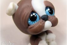 polymer clay dogs