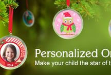 Personalized Ornaments / Your child will feel extra-special seeing his or her name and photo personalized on a beautifully illustrated ornament. / by I See Me! Personalized Children's Books