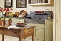 country/rustic/primative/bohemian/vintage kitchens
