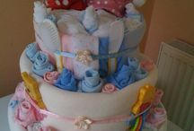 Nappy cakes / Such a lovely #gift #homemade #baby #nappycake #creative