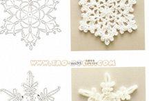 雪の結晶 編み図