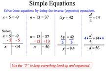Matematika - výrazy, rovnice a nerovnice