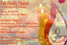 ICC Fall Family Fiesta / Come celebrate the Fall Family Fiesta at ICC, Milpitas! Kids will participate in a rich variety of festive activities - including making diyas and rangoli art, Face Painting and Unique Harvest Activity!
