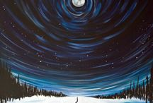 winter themed paintings