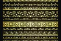 золотые фоны