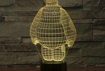 3d lamp led