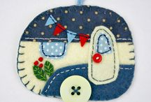 Fieltro adornos felt ornaments