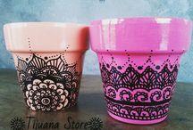 Crafts - painted pots