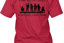 Red Fridays, IN SUPPORT OF OUR TROOPS AND FALLEN OFFICERS / Military and law enforcement