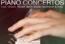 Piano Concertos / There's one work more than any other that brings audiences into the concert hall. A musical form composed only for classical music rockstars. As thrilling to listen to as it is difficult to play. This week our theme is . . . the piano concerto. Listen online or on your local radio station.  / by Exploring Music with Bill McGlaughlin