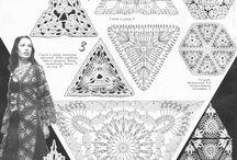 Треугольные мотивы крючком и изделия из них