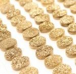 10x14mm Natural Golden Color Coated Oval Druzy Loose Gemstone