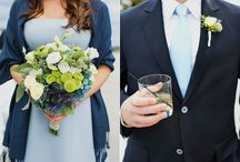 Blue and Green Wedding Colour Theme