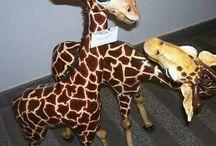 jirafas en papel maché
