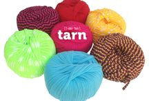 Tarn {T-shirt Yarn} Original / Our Tarn is made from off-cuts from the South African fashion industry. We endeavour to make use of this material specifically, in order to contribute to our eco-friendly campaign, and this means that there are a few lumps & bumps, and our colours and prints change all the time so grab it while you can!  Please note that the colour depicted on your screen may vary slightly to the Tarn Original you receive.