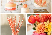 peach pink wedding/barack-rózsaszín esküvő / Wedding design in peach & pink