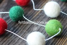 Felt Ball Garland / Felt Ball Garland  can add fresh colour into your nursery, or any indoor or outdoor space at your home. All our felt ball garlands are made from our standard size 2 cm felt balls.  Whether you wish to use our standard felt ball garlands or create your own custom design, it is a fun way to add some colour and interest in any area around your home.