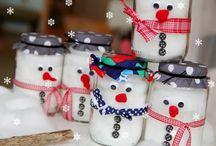 Weihnachtsbastelei von Kindern für Eltern