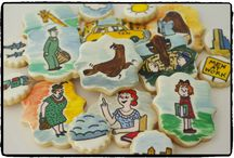 galletas sammy the seal / galletas basadas en las ilustraciones del libro Sammy the Seal, de Syd Hoff