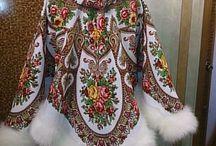 Россия.  стиль в одежде.