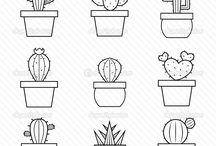 cactus kleurplaatjes