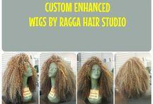 Custom Enhanced Wigs / Custom enhanced wigs by Ragga Hair Studio & Beauty Supply Inc.