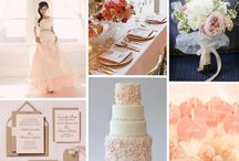 Blush Winter Weddings / BLUSH WEDDING INSPIRATION. Table setting inspiration and other chic details for blush winter weddings--from blush tablecloths to blush napkins, to floral styles and venue decor.