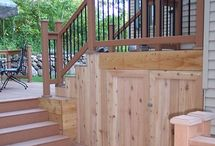 Deck Ideas / We want to add a deck/screened porch on the back - these are ideas. / by Liz Budd