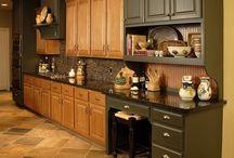 Refinished Oak Cabinets