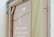 Stretching + Framing Canvas