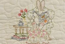 Crabapple Hill / beautiful embroidered quilts///