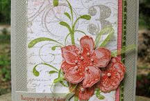 SU Eclectic, Artistic, and Everything Eleanor / Artsy, eclectic sets with a variety of flowers, flourishes, and textures.  Stamp sets include Everything Eleanor, Awesomely Artistic, Kinda Eclectic, Butterfly Basics, and Choose Happiness. / by Alison Baker