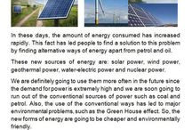 Alternative forms of energy / These are short texts that some of my College students have written about alternative forms of energy so that their classmates can be informed, too.