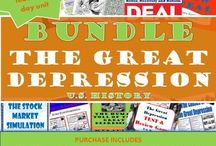 TpT 5-The Great Depression Teaching Strategies / Teaching strategies for secondary U.S. History to teach the Great Depression. 1929-1939 https://www.teacherspayteachers.com/Store/Chalk-Dust-Diva
