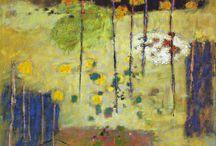 Rick Stevens / His influences include Odilon Redon, Pierre Bonnard, Eduoard Vuillard, George Innes and Gustav Klimt.
