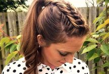 updo French  braid