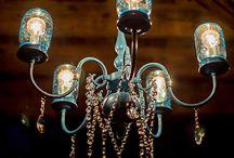 Mason jar chandelelier