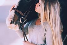 Horse and Girl Photo