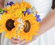 Girasoli e genziane per celebrare l'amore -Sunflowers wedding