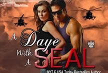 Book: A Daye With A SEAL, Dangerous Curves/Hot SEALs KW crossover / Medically discharged after a mission gone bad, Navy SEAL Gabriel 'Hawk' Barrett regains his sight, and when hired by GAPS and the Knight Agency, most of his self-worth. Assigned to go undercover as a gun for hire, he's determined to do whatever it takes to complete the mission, but his restraint is tested when his buddy's hot sister becomes mistakenly involved.