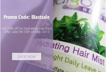 Blast Sale / Get 20% off on Hydrating Hair Mist  Promo Code: Blastsale http://bit.ly/1PWTzVz