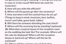 Wedding Venue checklists