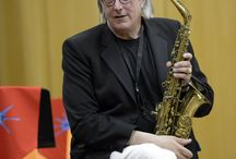John Harle / Masterclass given by Ivor Novello award-winning composer and saxophonist John Harle, to the 2017 Portsmouth Music Festival young woodwind players. Harle composed the theme tune and music of six seasons for the BBC TV series Silent Witness.