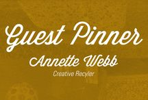 Guest Pinner: Annette Webb / Our fourth in our ReStore Guest Pinner Series is Annette Webb. She has a love for recycling and creating wonderful works of art. All of these various projects and ideas utilize materials found in our ReStore.