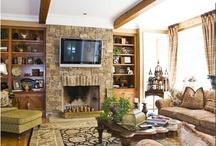 TV / Fireplace / by Joy Johnson