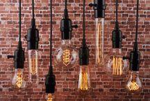 Lámparas vintage de madera