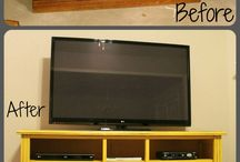 TV console ideas / by Susie Combee