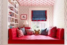 Chic Red Rooms / Red Bedrooms, Red Living Rooms, Red Rooms
