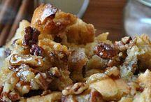 Pecan bread pudding / Pecan nuts